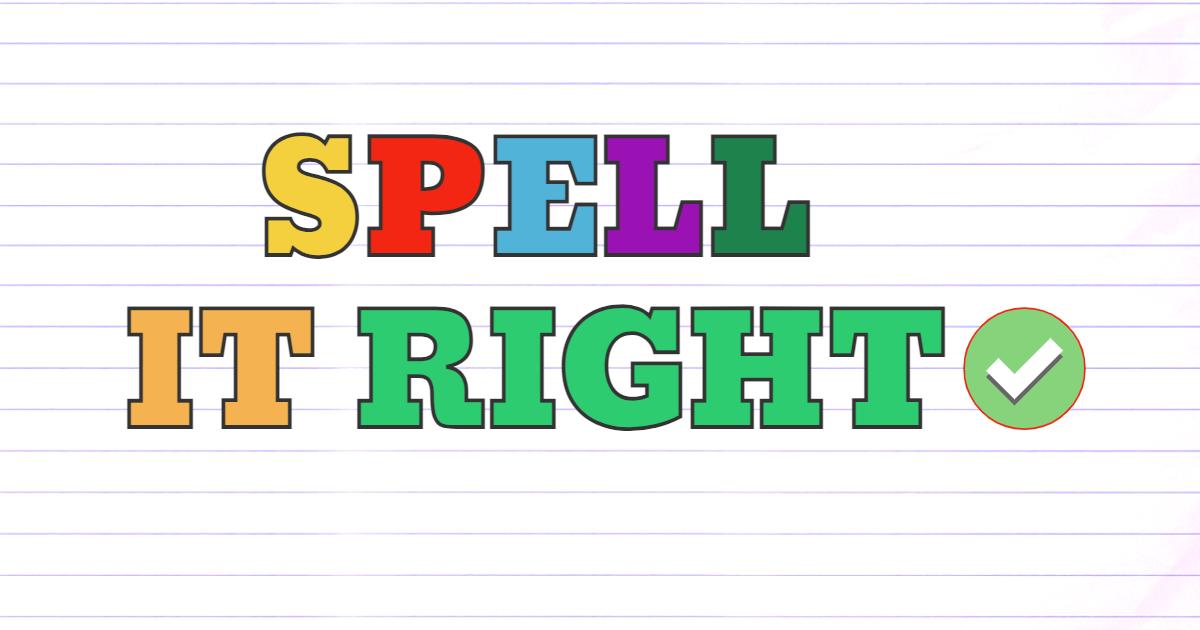 Spell it right! thumbnail