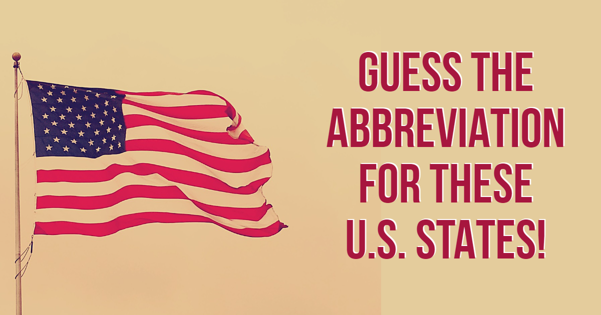 Guess The Abbreviation For These U.S. States! thumbnail