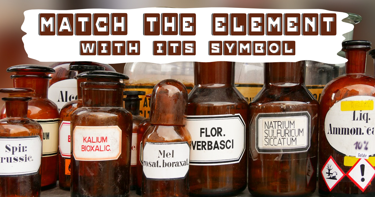 Match the Element with its Symbol! thumbnail