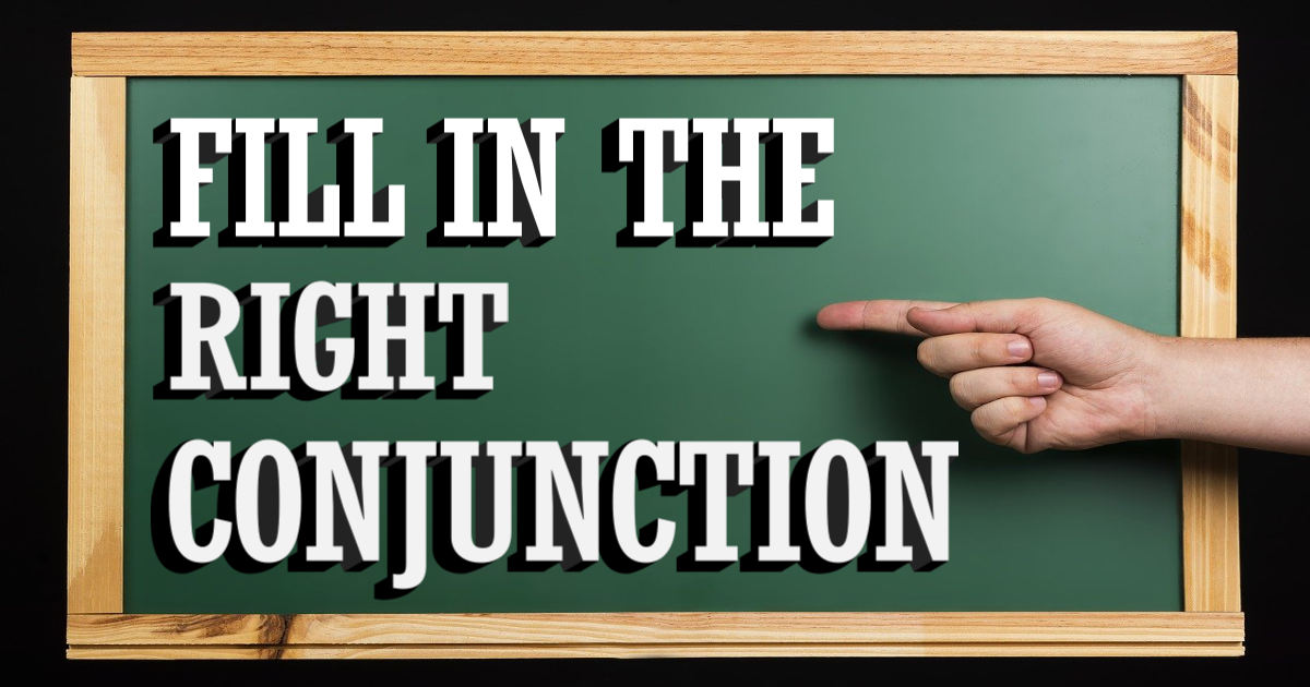 Fill in the Right Conjunction thumbnail