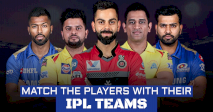 MATCH THE PLAYERS WITH THEIR IPL TEAMS