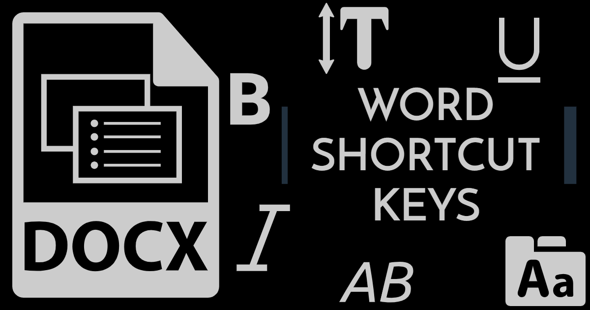Word Shortcut Keys thumbnail