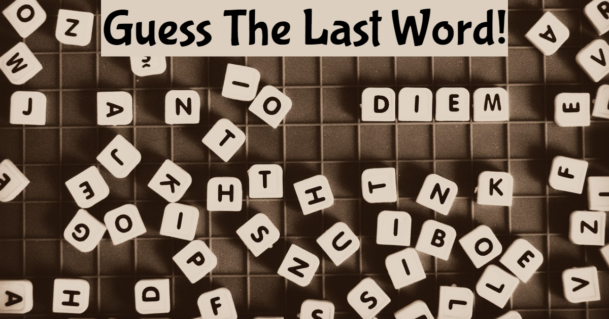 Guess The Last Word! thumbnail