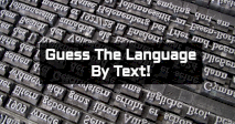 Guess The Language By Text!