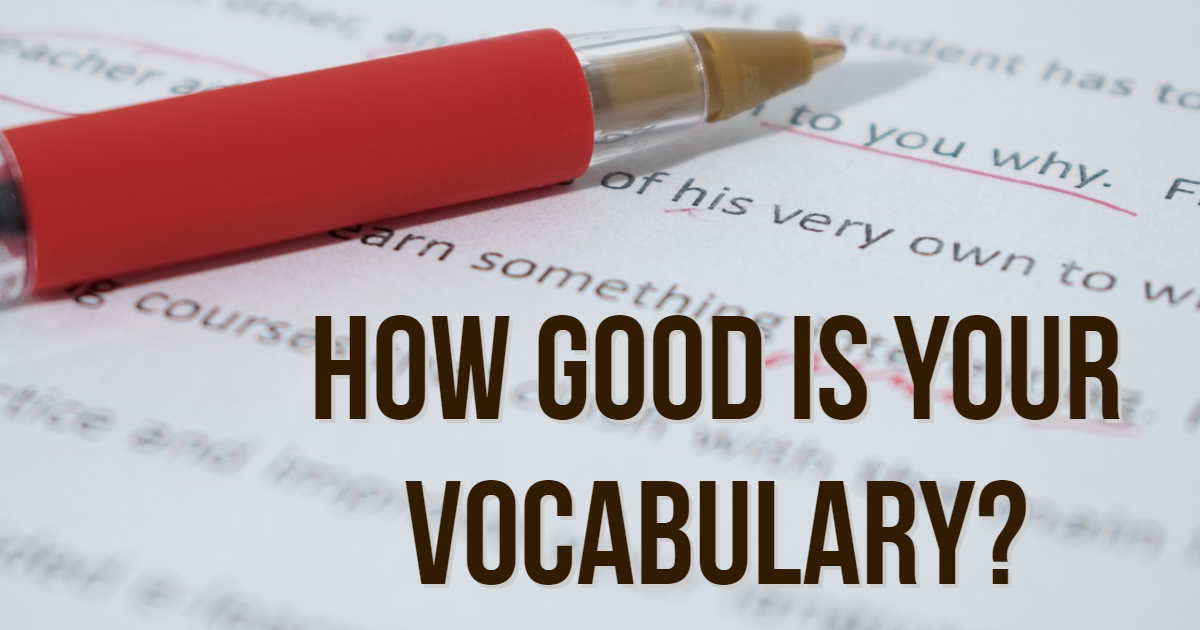 How good is your Vocabulary? thumbnail
