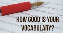 How good is your Vocabulary?