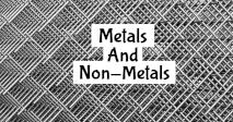 Quiz On Metals And Non-Metals!