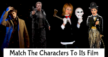 Match The Fictional Characters To Its Film!