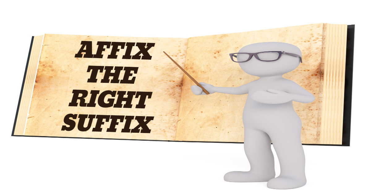 Affix the right Suffix thumbnail